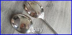 Service a salade en métal argenté, Christofle, modèle Marly