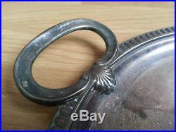 Superbe GRAND PLATEAU CHRISTOFLE signé GALLIA modèle COQUILLE en métal argenté