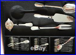 Superbe Menagere En Metal Argente Modele Cluny Christofle 180 Pieces En Coffret